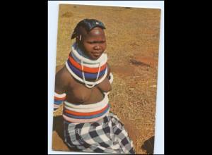 Y17674/ Junge Frau nackt Married Makapeese Woman Afrika AK ca.1970