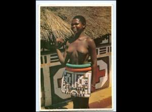 Y17673/ Junge Frau nackt Ndebbel Woman Afrika AK ca.1965