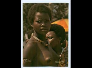Y17667/ Junge Frau nackt Wagenia-Girl Afrika Zaire AK ca.1970