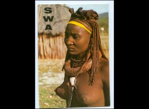 Y17665/ Junge Frau nackt Süd-West-Afrika AK 1973