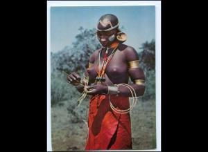 Y17663/ Junge Frau nackt Bukuria Afrika AK ca.1965