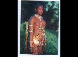 Y17660/ Junge Frau nackt Surma Girl Afrika Ethnic AK 70er
