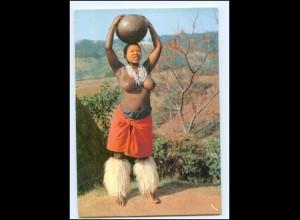 Y17659/ Junge Zulu Frau nackt Südafrika AK