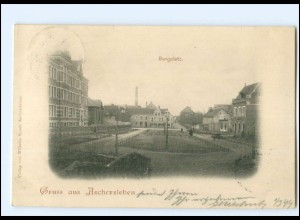 S2487/ Gruß aus Aschersleben Burgplatz AK 1899