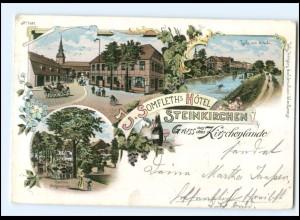 S2494/ Gruß aus dem Kirschenlande Steinkirchen Somfleth`s Hotel Litho AK 1898