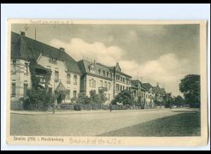 S2503/ Strelitz in Mecklbg. Bahnhofstr. AK 1928