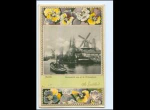 S2522/ Zwolle Stadsgezicht, Windmüle Knackstedt & Näther AK 1900 Niederlande