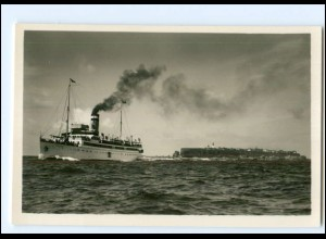 S2561/ Dampfer Cobra vor Helgoland Schensky Foto AK ca. ca.1930