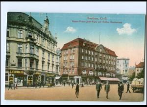 S2534/ Beuthen Kaiser Franz-Josef-Platz AK Schlesien ca.1912