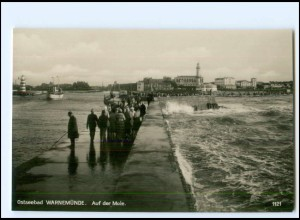 S2531/ Warnemünde Mole Foto Ak ca.1930