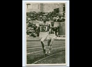 XX11109/ Olympiade 1936 Berlin 5000 m-Lauf Höcktert + Läthinen Finnland Foto AK