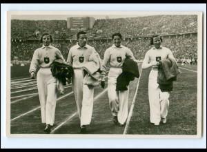 XX11110/ Olympiade 1936 Berlin deutsche 4 x 100 m Damenstaffel Foto AK