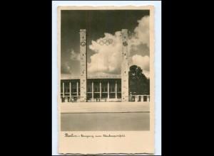 XX11120/ Olympiade 1936 Berlin Eingang zum Reichssportfeld Foto AK
