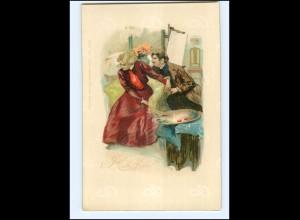 XX11978/ Ja oder Nein ! junges Paar, Kunstmaler schöne Lito Künstler AK ca.1900