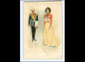 XX11976/ Ja oder Nein ! Offizier und Frau schöne Lito Künstler AK ca.1900