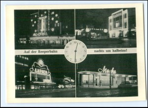 Y17788/ Hamburg St. Pauli Reeperbahn bei Nacht AK ca.1950