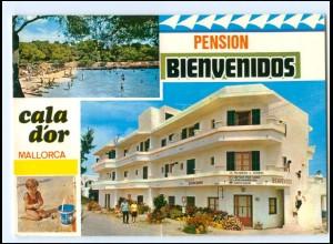 Y17811/ Mallorca Cala d Or Pension Bienvendidos Spanien AK