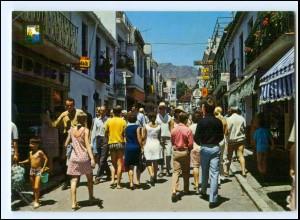 Y17793/ Torremolinos Calle de San Miguel Spanien AK