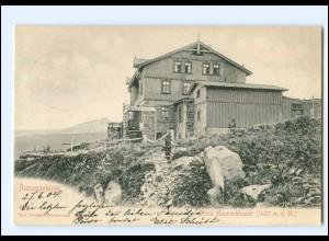 XX11350/ Prinz Heinrichbaude Riesengebirge AK Bahnpost: Hirschberg - Grünthal