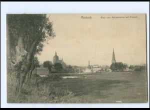XX11235-18./ Rostock Blick vom Mühlendamm auf die Altstadt 1910 AK