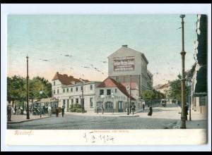 XX14684/ Berlin Rixdorf Hermannplatz Straßenbahn AK 1904