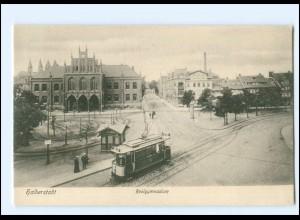 XX11740/ Halberstadt Realgymnasium Straßenbahn AK ca.1910
