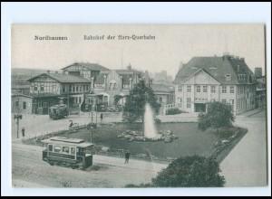 XX11233-997/ Nordhausen Bahnhof der Harz-Querbahn Straßenbahn AK 1931