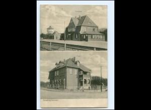 XX11333-2124/ Amelinghausen Bahnhof und Post AK 1916