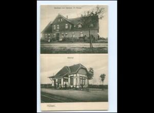 XX11342-2817/ Hülsen b. Dörverden Bahnhof u. Gasthaus AK 1911