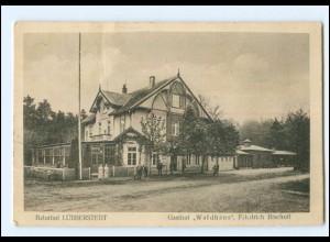 XX11358-2864/ Bahnhof Lübberstedt Gasthof Waldhaus AK 1922