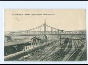 XX11335/ Berlin Bahnhof Gesundbrunnen AK 1917