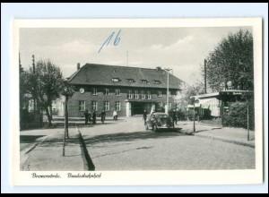XX11409/ Bremervörde Bahnhof VW Käfer Ak ca.1955