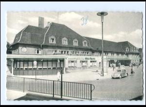 XX11366/ Celle Bahnhof VW Käfer AK ca.1955