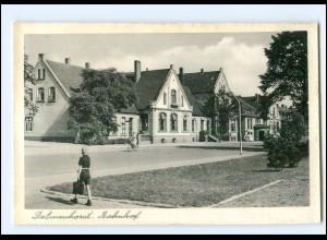 XX11365/ Delmenhorst Bahnhof AK ca.1955