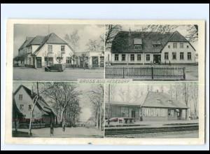 XX11424/ Hesedorf bei Bremervörde AK Schule, Bahnhof ca.1950-55