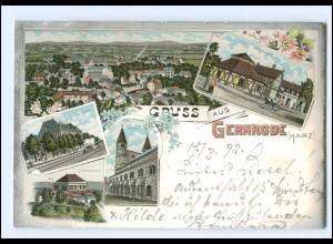 XX11579-064./ Gruß aus Gernrode 1898 Litho AK