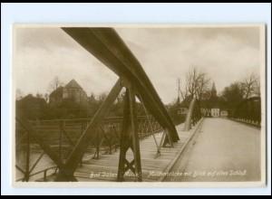 XX11541-048./ Bad Düben Muldenbrücke mit Blick auf das Schloss 1925 Foto AK