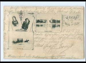 XX11640/ Gruß aus Wyk auf Föhr 1898 AK