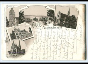 XX11555-170./ Gruß aus Neubrandenburg 1897 Litho AK