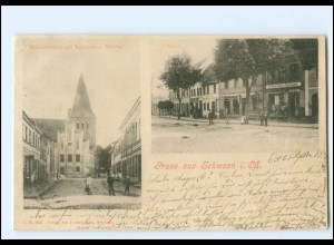 XX11553-182./ Schwaan Mühlenstraße mit Rathaus und Kirche 1899 AK