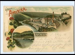 XX11542-093./ Gruß aus Amerika 1901 Litho AK