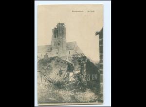 XX11715/ Paschendaele Kirche Belgien 1. Weltkrieg AK 1915