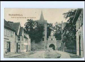 XX12537/ Neubrandenburg AK + Bahnpost Konitz - Ruhnow 1915