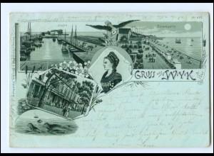XX11532/ Gruß aus Wyk auf Föhr 1903 Litho AK