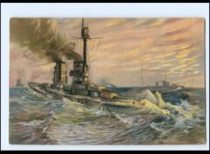 XX11704/ Stimmungsbilder aus unserer Flotte Litho AK Marine Kriegsschiff 1918