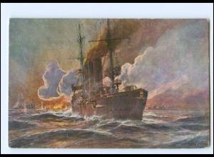 XX11705/ Kolonialkriegerdank Beschießung von Madras Kreuze Emden AK Marine WK1
