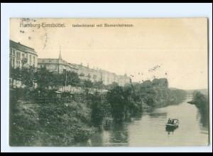 XX11712/ Hamburg Eimsbüttel Isebeckkanal mit Bismarckstr. AK 1906