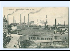 XX11685/ Dortmund Dorstfelder Brücke, Werke der Union AK ca.1912