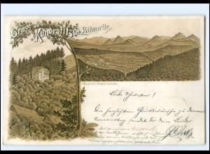 XX11678/ Gruß aus Kundratitz bei Leitmeritz Litho AK 1899