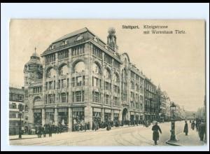 XX11509/ Stuttgart Königstraße mit Warenhaus Tietz 1909 AK